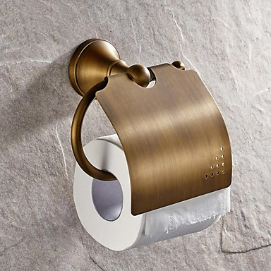 Toiletrolhouder Hoge kwaliteit Antiek Messinki 1 stuks - Hotel bad