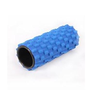 blauw eva holle yoga schuimroller fitness spieren te ontspannen