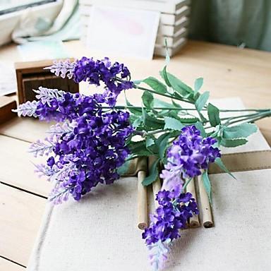 Μετάξι Ανοικτό μπλε Ψεύτικα λουλούδια