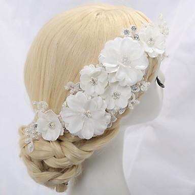 Γυναικείο Κορίτσι Λουλουδιών Δαντέλα Κρυστάλλινο Κράμα Απομίμηση Μαργαριτάρι Headpiece-Γάμος Ειδική Περίσταση Λουλούδια