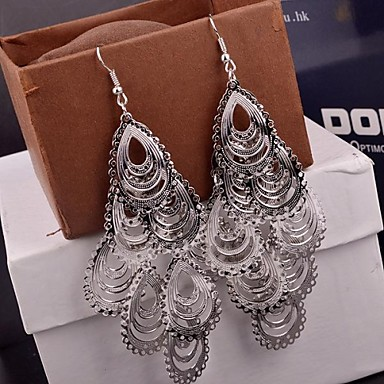 Γυναικεία Κρεμαστά Σκουλαρίκια Πολυεπίπεδο Κράμα Κρεμαστό Κοσμήματα Χρυσό Ασημί Κοστούμια Κοσμήματα