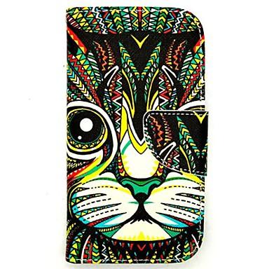 Για Samsung Galaxy Θήκη Θήκη καρτών / Πορτοφόλι / με βάση στήριξης / Ανοιγόμενη / Με σχέδια tok Πλήρης κάλυψη tok Γάτα Συνθετικό δέρμα