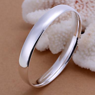 Pulseiras Bracelete Prata Chapeada Casamento / Pesta / Diário / Casual Jóias Dom Prateado,1pç