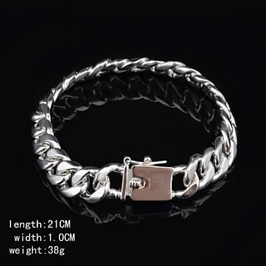 Silber Ketten- & Glieder-Armbänder Ketten - Breiter Armreif, Einzigartiges Design, Modisch Armbänder Silber Für Weihnachts Geschenke Geburtstag Verlobung