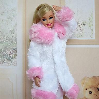 Freizeit Kleider Für Barbie-Puppe Samt Satin Kleid Für Mädchen Puppe Spielzeug