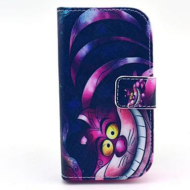 Para Samsung Galaxy Capinhas Carteira / Porta-Cartão / Com Suporte / Flip / Estampada Capinha Corpo Inteiro Capinha Gato Couro PU Samsung
