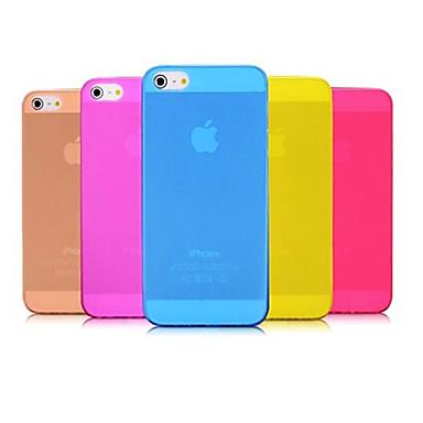 pp ultra fino 0,01 polegadas / 0,3 mm caso macio para iphone 5 / 5s iphone casos