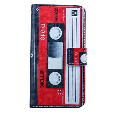 4,5 inch cassette patroon pu portemonnee lederen case voor Huawei Ascend Y550