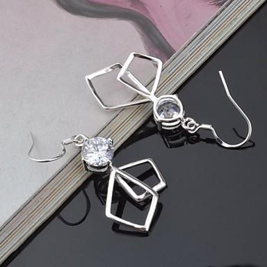 Feminino Brincos Curtos Luxo Europeu Titânio Imitações de Diamante Jóias
