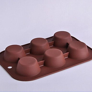 Bakeware araçları Silikon Çevre-dostu / Yapışmaz Kek / Kurabiye / Çikolota Pişirme Kalıp