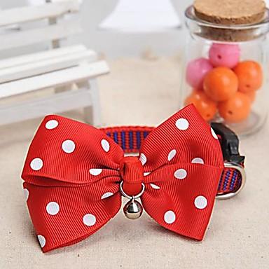 einstellbar meshbelt Punktmuster rot bowknot und Glocke verziert Halsband für Hunde