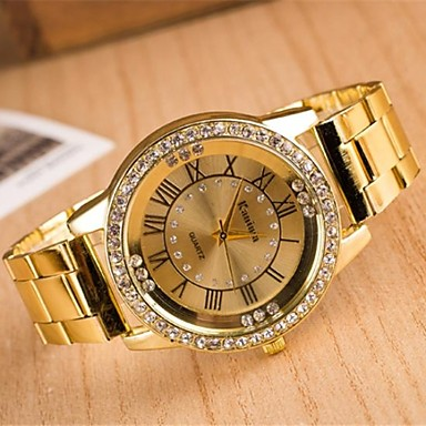 Dames Dress horloge Modieus horloge Kwarts Hot Sale Legering Band Glitter Zilver Goud roze