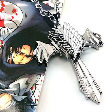 Sieraden geinspireerd door Attack on Titan Cosplay Anime Cosplayaccessoires Kettingen Legering Heren nieuw