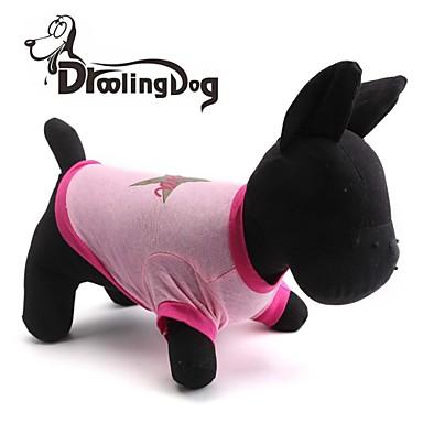 Kat Hond T-shirt Hondenkleding Ademend Sterren Roze Kostuum Voor huisdieren