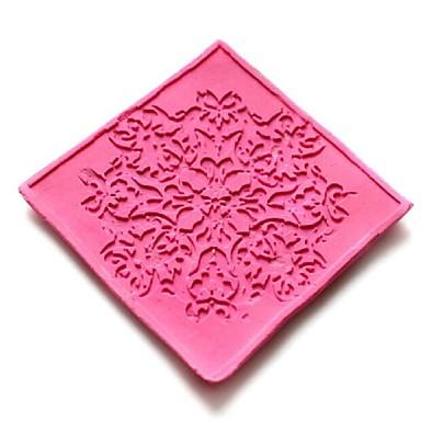 δαντέλα ανάγλυφη πεθαίνει κέικ φοντάν σοκολάτας σιλικόνης μαξιλάρι μούχλα, εργαλεία διακόσμηση cupcake, l6cm * w6cm * h0.3cm