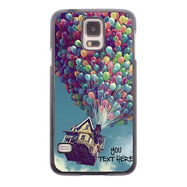 gepersonaliseerde telefoon case - ballon ontwerp metalen behuizing voor Samsung Galaxy S5 i9600