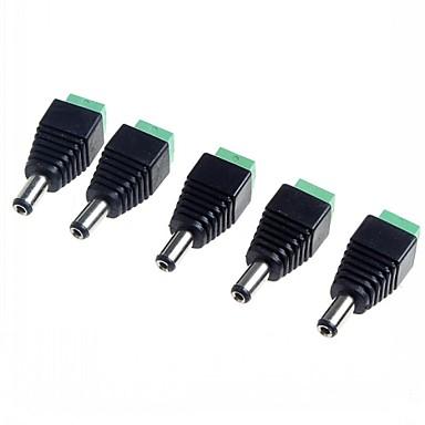 5,5 x 2,1 CCTV DC πρίζες προσαρμογέα (5-pack)