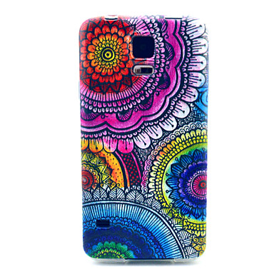 tok Για Samsung Galaxy Samsung Galaxy Θήκη Με σχέδια Πίσω Κάλυμμα Λουλούδι TPU για S5 Mini