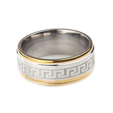 gepersonaliseerde gift trendy roestvrij stalen sieraden gegraveerd mannen ring
