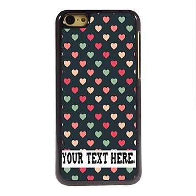 caixa personalizada coração bonito caso design de metal para iphone 5c