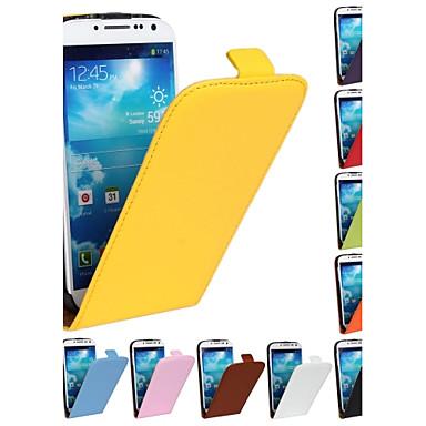 echte pu rundleder magnetische flip portemonnee case cover jas voor Samsung Galaxy S4 i9500