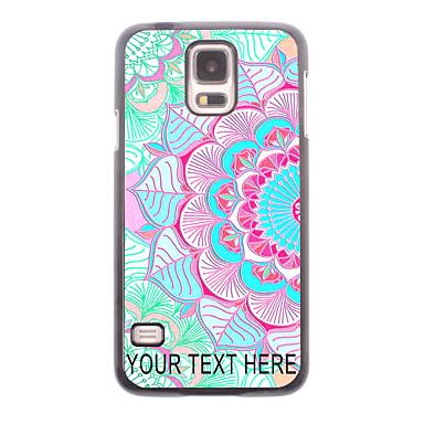 gepersonaliseerde telefoon geval - de helft van de bloem ontwerp metalen behuizing voor Samsung Galaxy S5 i9600