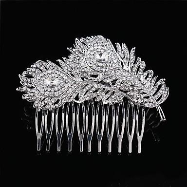 Kadın Çiçekçi Kız Tüy Saf Gümüş alaşım Başlık-Düğün Özel Anlar Saç Tarakları Çiçekler