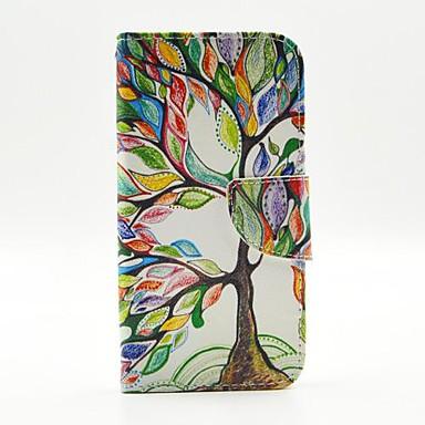 tok Για Samsung Galaxy Samsung Galaxy Θήκη Θήκη καρτών με βάση στήριξης Ανοιγόμενη Με σχέδια Πλήρης Θήκη Δέντρο PU δέρμα για S6