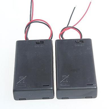 3 συσκευασίες πρότυπο με το κιβώτιο της μπαταρίας του διακόπτη για μπαταρίες AA 4.5V