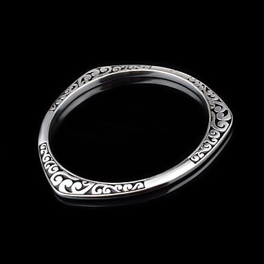 Dames Cuff armbanden Met de hand gemaakt Titanium Staal imitatie Diamond Legering Zilver Sieraden Voor Bruiloft Feest Kerstcadeaus 1 stuks