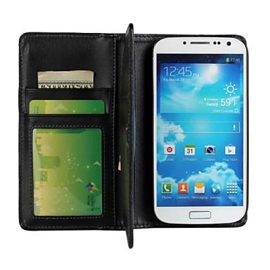 Για Samsung Galaxy Θήκη Θήκη καρτών / με βάση στήριξης / Ανοιγόμενη tok Πλήρης κάλυψη tok Μονόχρωμη Συνθετικό δέρμα Samsung S4