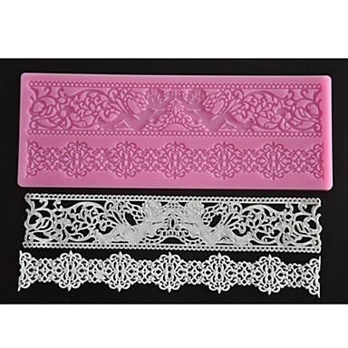 Four-C χρώμα ματ τούρτα δαντέλα σιλικόνη ματ υφή ροζ