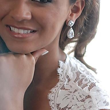 Σκουλαρίκι Κρεμαστά Σκουλαρίκια Κοσμήματα 1pc Γάμου / Πάρτι Κρύσταλλο / Κράμα Γυναικεία Λευκό