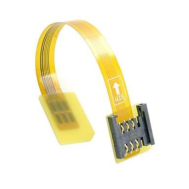 gsm kadın uzantısı yumuşak yassı fpc kablo uzatıcı 10cm standart UIM sim kart kiti erkek CDMA