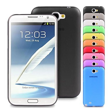 tok Για Samsung Galaxy Samsung Galaxy Note Εξαιρετικά λεπτή Πίσω Κάλυμμα Συμπαγές Χρώμα TPU για Note 2