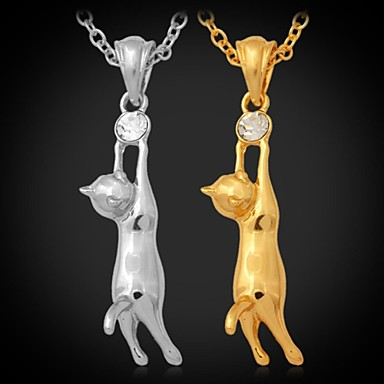 Kadın's Uçlu Kolyeler / Y kolye - Yapay Elmas, Platin Kaplama, Altın Kaplama Çiçek Gümüş, Altın Kolyeler Mücevher Uyumluluk Düğün, Parti, Parti / Gece