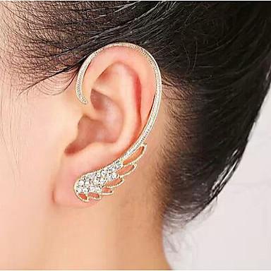 Γυναικεία Χειροπέδες Ear Πετράδια σχετικά με τον μήνα γέννησης Στρας Κράμα Φτερά / Φτερό Κοσμήματα Γάμου Πάρτι Καθημερινά Causal