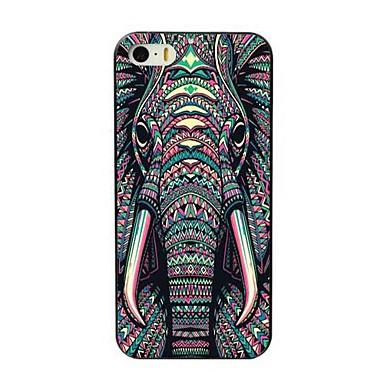 voordelige iPhone 5 hoesjes-hoesje Voor Apple iPhone 8 Plus / iPhone 8 / iPhone 7 Plus Patroon Achterkant dier / Olifant Hard TPU
