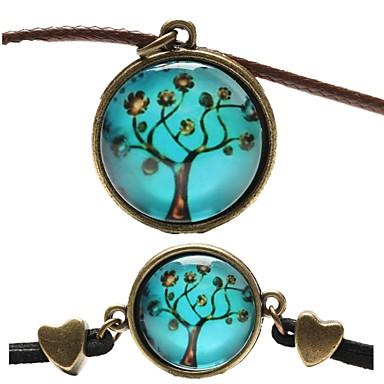 Dames Sieraden set - Leder omvatten Blauw Voor Feest / Dagelijks / Causaal / Kettingen / Armband
