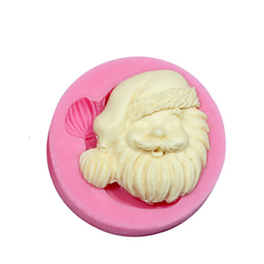 fondan fimo sakız yapıştırmak için yılbaşı tema silikon kalıp silikon Noel Baba şeker kalıp&sabun çikolata