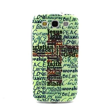 Voor Samsung Galaxy hoesje Patroon hoesje Achterkantje hoesje Woord / tekst TPU Samsung S3
