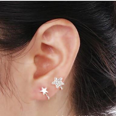 Mulheres Punhos da orelha Luxo Imitações de Diamante Liga Estrela Jóias Casamento Festa Diário Casual