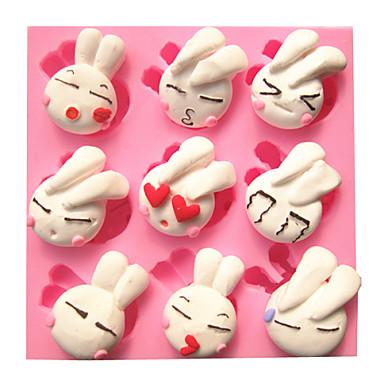 Şeker şeker mutfak pişirme için karikatür sevimli sevimli tavşan fondan kek kalıpları çikolata kalıp