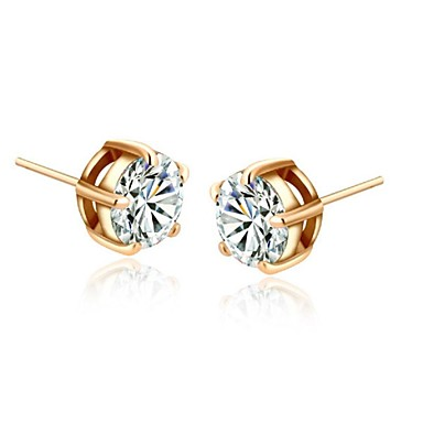 Oorknopjes Kristal Kubieke Zirkonia Verguld Zilver Gouden Sieraden Voor Bruiloft Feest Dagelijks Causaal