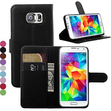 Pouzdro Uyumluluk Samsung Galaxy Samsung Galaxy Kılıf Kart Tutucu Satandlı Flip Tam Kaplama Kılıf Tek Renk PU Deri için S7 edge S7 S6