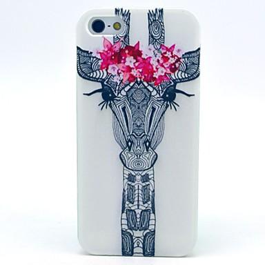tok Για Θήκη iPhone 5 Με σχέδια Πίσω Κάλυμμα Ζώο Μαλακή TPU για iPhone SE/5s iPhone 5