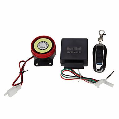 motorfiets veiligheid alarm diefstal beveiliging afstandsbediening kit DC12V zwart