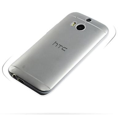 Pouzdro Uyumluluk HTC HTC Kılıf Ultra İnce / Şeffaf Arka Kapak Solid Yumuşak TPU için