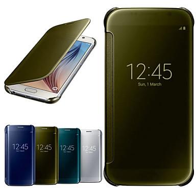 Capinha Para Samsung Galaxy Samsung Galaxy Capinhas com Visor Espelho Flip Transparente Capa Proteção Completa Côr Sólida PC para S6