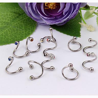 Anderen / Lippen Kristal / Roestvast staal Lippiercing / Labret, lip-piercing sieraden / Oorpiercing - Dames Uniek ontwerp / Modieus